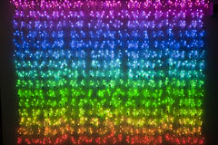 Rainbow colored xmas lights Royalty Free Stock Photography