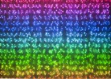 Rainbow colored xmas lights Royalty Free Stock Photos