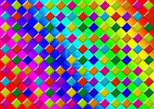 Rainbow-colorful-background-with-colorful-squares vector illustration