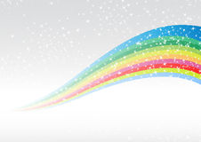 Rainbow colorful advertisement. Clip-art Stock Images