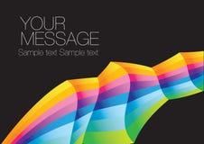 Rainbow colorful background layout Stock Image