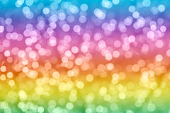 Rainbow colorful background with natural bokeh defocused lights Royalty Free Stock Images