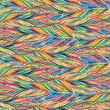 Rainbow colorful bird feather braid seamless pattern texture background Stock Photography