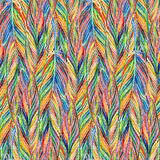 Rainbow colorful bird feather braid seamless pattern texture background Royalty Free Stock Image