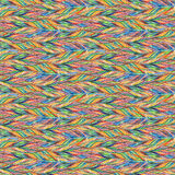 Rainbow colorful bird feather braid seamless pattern texture background Stock Images