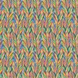 Rainbow colorful bird feather braid seamless pattern texture background Stock Photos