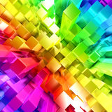 Rainbow of colorful blocks Stock Photos