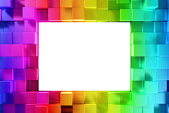 Rainbow of colorful blocks Royalty Free Stock Image