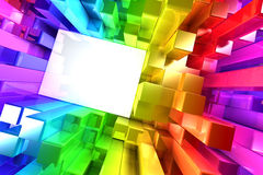 Rainbow of colorful blocks Royalty Free Stock Images