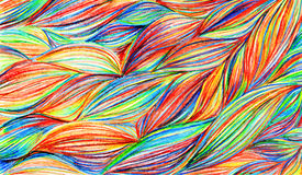 Rainbow colorful braids waves pattern texture background Royalty Free Stock Photography