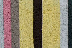 Rainbow colorful brick wall. Beautiful variety colors cement pattern background Royalty Free Stock Photo