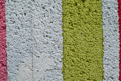 Rainbow colorful brick wall. Beautiful variety colors cement pattern background Stock Photos