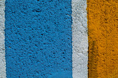 Rainbow colorful brick wall. Beautiful variety colors cement pattern background Royalty Free Stock Photos