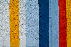Rainbow colorful brick wall. Beautiful variety colors cement pattern background Royalty Free Stock Images