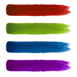 Rainbow colorful brush strokes set Royalty Free Stock Photo