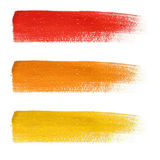 Rainbow colorful brush strokes set Royalty Free Stock Image
