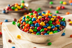 Rainbow Colorful Candy Coated Chocolate Royalty Free Stock Photography