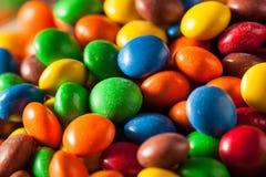 Rainbow Colorful Candy Coated Chocolate stock photos