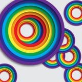 Rainbow colorful circles. Stock Photo