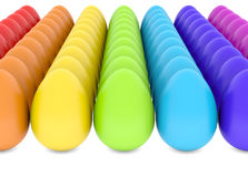 Colorful eggs Stock Photo
