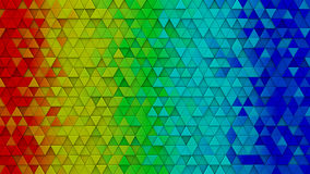 Rainbow colorful extruded triangles 3D render. Rainbow colorful extruded triangles. Abstract hipster background with geometric elements. 3D render illustration Royalty Free Stock Photo