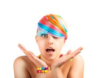 Rainbow colorful fashion makeup Royalty Free Stock Photography