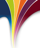 Rainbow colorful fresh wave. Clip-art Royalty Free Stock Image