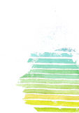 Rainbow colorful gradient presentation template, based on white watercolor paper and stripe texture, hand drawn, in vibrant colors Royalty Free Stock Images