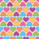 Rainbow colorful heart. A playful, modern, and flexible pattern for brand who has cute and fun style. Repeated pattern. Happy, bright, and magical mood Stock Images