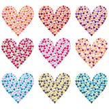 Rainbow Colorful Heart Shape Set Royalty Free Stock Photos