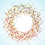 Rainbow colorful illusion - swirl background Royalty Free Stock Image