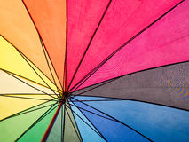 Rainbow colorful inside umbrella for background Royalty Free Stock Image