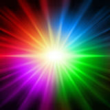 Rainbow colorful lights Stock Images