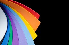 Rainbow colorful paper Stock Photos