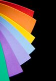 Rainbow colorful paper Stock Images
