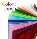 Rainbow colorful paper Royalty Free Stock Image