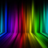 Rainbow Colorful stage Pattern Background. Rainbow Colorful stage Pattern on black Background Royalty Free Stock Image