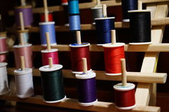 A rainbow of colorful thread Royalty Free Stock Photo
