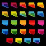 Rainbow colorful transparent rounded rectangle Royalty Free Stock Photos
