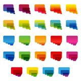 Rainbow colorful transparent rounded rectangle Stock Photos