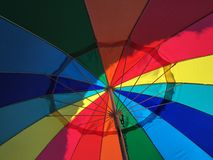 Rainbow. Colorful view from under umbrella Stock Photos