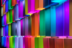 Rainbow colorful on the wall . Stock Photography
