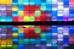 Rainbow colorful on the wall and reflection . Royalty Free Stock Photos
