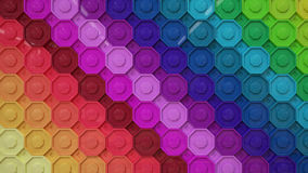 Rainbow colorful wallpaper buttons Royalty Free Stock Photos