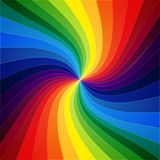 Rainbow colorful warped stripes background Stock Images