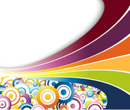 Rainbow colorful waves and circles. Clip-art Royalty Free Stock Image