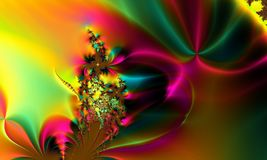 Rainbow Colorful Whimsical Abstract Background Royalty Free Stock Image