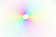 Rainbow colors. Many droplets in concentric rings with rainbow colors Royalty Free Stock Image