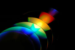 Rainbow colors. On cds stock images