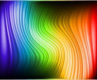 Rainbow Colors Abstract Horizontal Lines card Royalty Free Stock Image